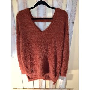 Ruby Moon Rust Oversized Sweater